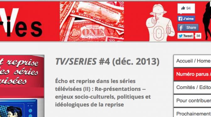 Nouveau site: revue TV/Series