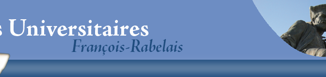 """La collection """"Sérial"""" aux Presses Univ. François Rabelais (Tours)"""
